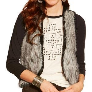 Ariat Jackets & Coats - Ariat Emma Faux Fur Sleeveless Sweater Vest